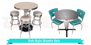 Retro Kitchen: Sterling Heights MI, Pub Table, Bar Stools, 1950\'s