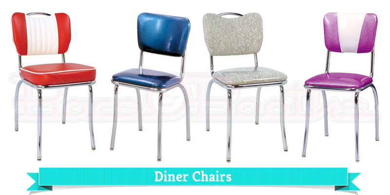 Retro Chairs Diner Kitchen Chrome Dinette Home Vintage