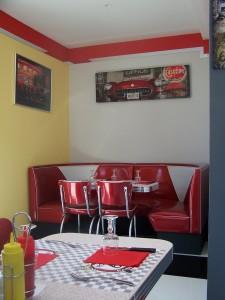 Rt 66 Pasta Bar - Diner Decor by BarsandBooths.com