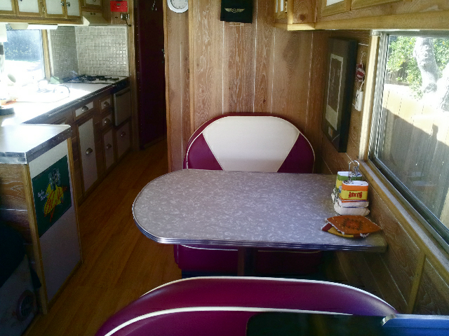 Alexanders 1955 Gillig Bus Booth And Table Custom Made