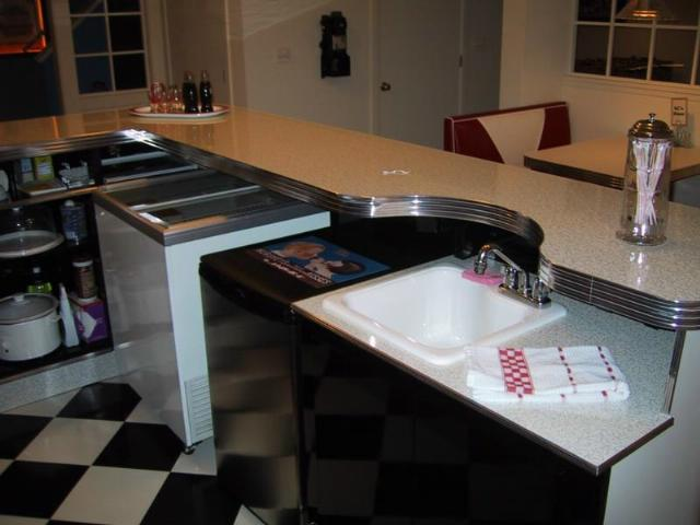 Kurt S Custom L Shaped Bar Home Diner Home Bar Retro