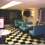 Beverly Hills Diner Booth and Gameroom