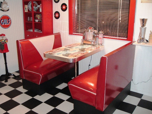 Danny S 50 S Room Diner Booth Set Diner Booth Table