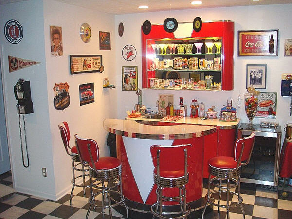 Dave S Doo Wop Room Basement Bar 1950 S Theme Retro Bar