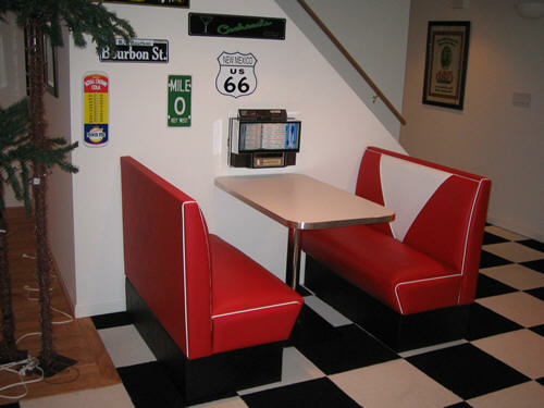 Diner Booth Rec Room Seating Retro Look Built To Last