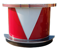 Roberta's Bar - Free Standing - Red/White