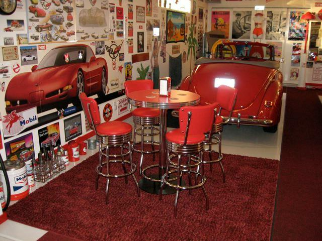 Basement Bar Ideas Photos   Retro Pub Table Bar Stools Red Custom Made Bar  Height