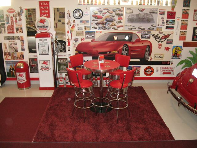 Retro Pub Table Bar Stools Red Custom Made Bar Height