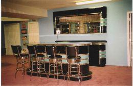 Janet's Black & Teal Bar Set – Stroudsburg, PA