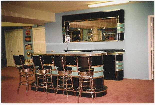 Bomber Bar Credenza and Back Bar