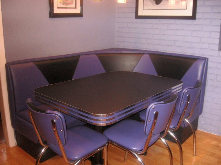 Purple Diner Booth Home Booth Kitchen Seating Chairs Table