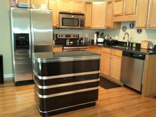 Jennifers kitchen island custom made black and chrome metal edge jennifers kitchen islandfw workwithnaturefo