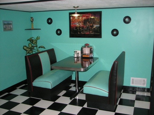 Game Room Booth Art Deco Colors Rec Room Seating