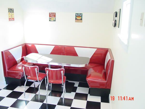 Bar And Diner Booth Custom Made Floor Mounted Bar Stools