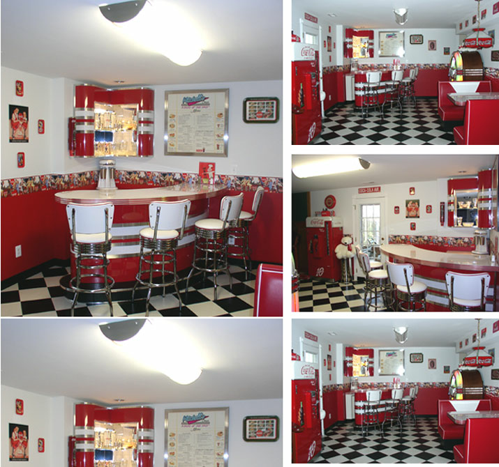 Home Diner Diner Booths Bar Jukebox Soda Machine Bar