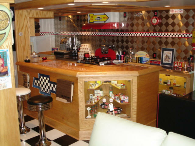 Sacco S Racing Room Custom Bar Display Case Bar Stools