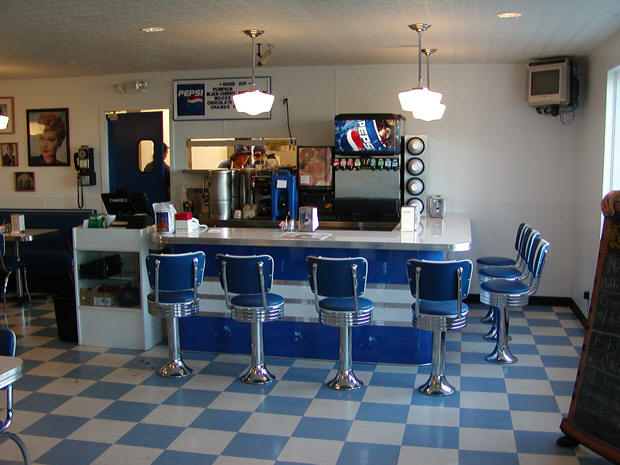 Custom Bar and Barstools Silver Moon Diner Ohio