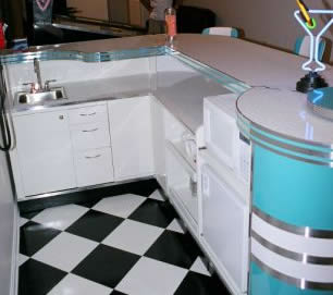 Warfield's Retro Bar - Back Cabinetry
