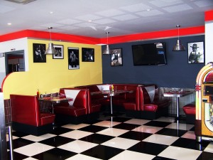 Rt 66 Pasta Bar - Diner Decor by BarsandBooths.com