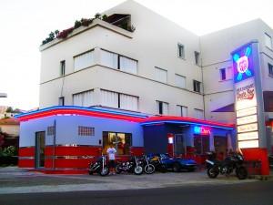 Route 66 Pizza Bar-Diner Decor by BarsandBooths.com