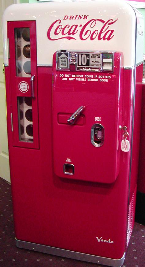 vendo coke machine