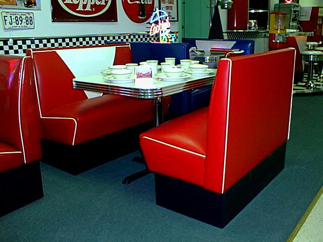 Corner Drug Store Diner Booth Set