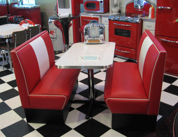 Cruiser Diner Booth Set
