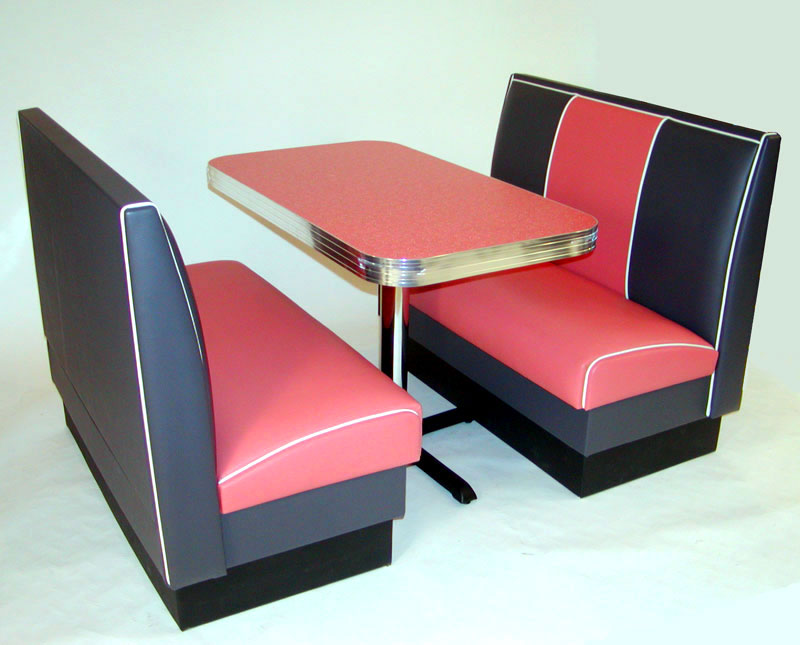 Miami Deco Diner Booth Kitchen Seating Furniture Retro : Cruiser Diner Booth Set Pink1 from barsandbooths.com size 800 x 645 png 503kB