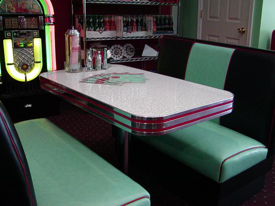 Deco Diner Booth Set Art Modern Stylish Retro Mod
