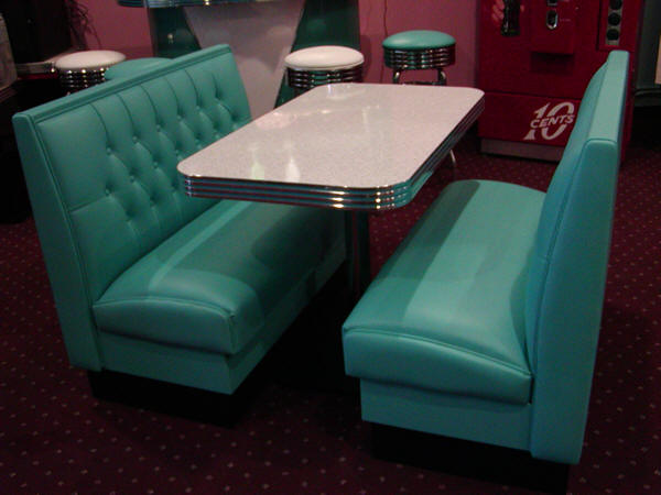 Vegas booth set diner restaurant commercial quality - Kitchen table booth seating ...
