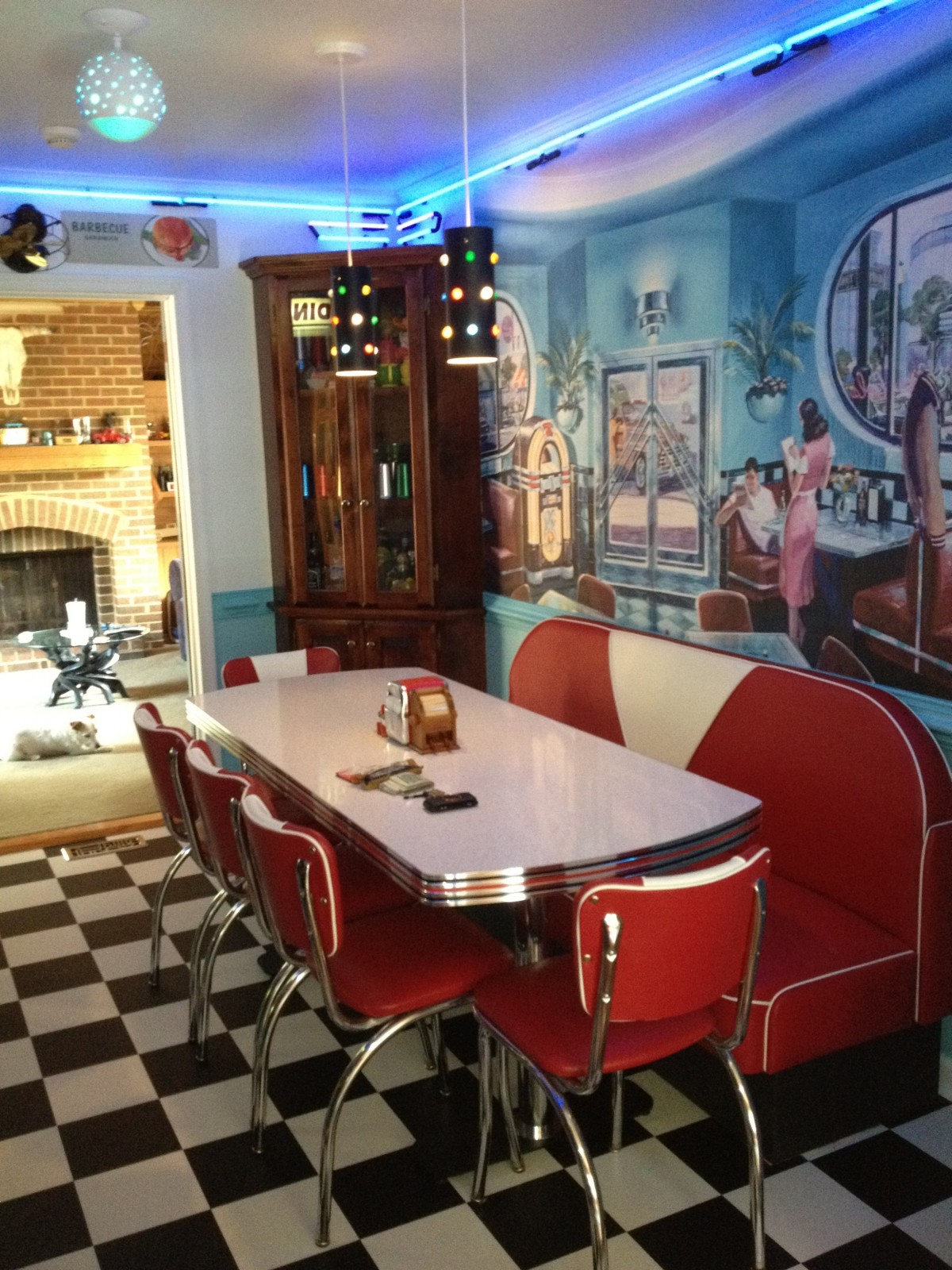 Retro Kitchen Ideas Diner Booth Chairs Tables Home Diner