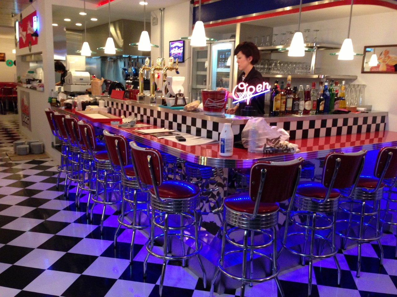 Barsandbooths Com Furniture In Sally S Diner In Niigata Japan