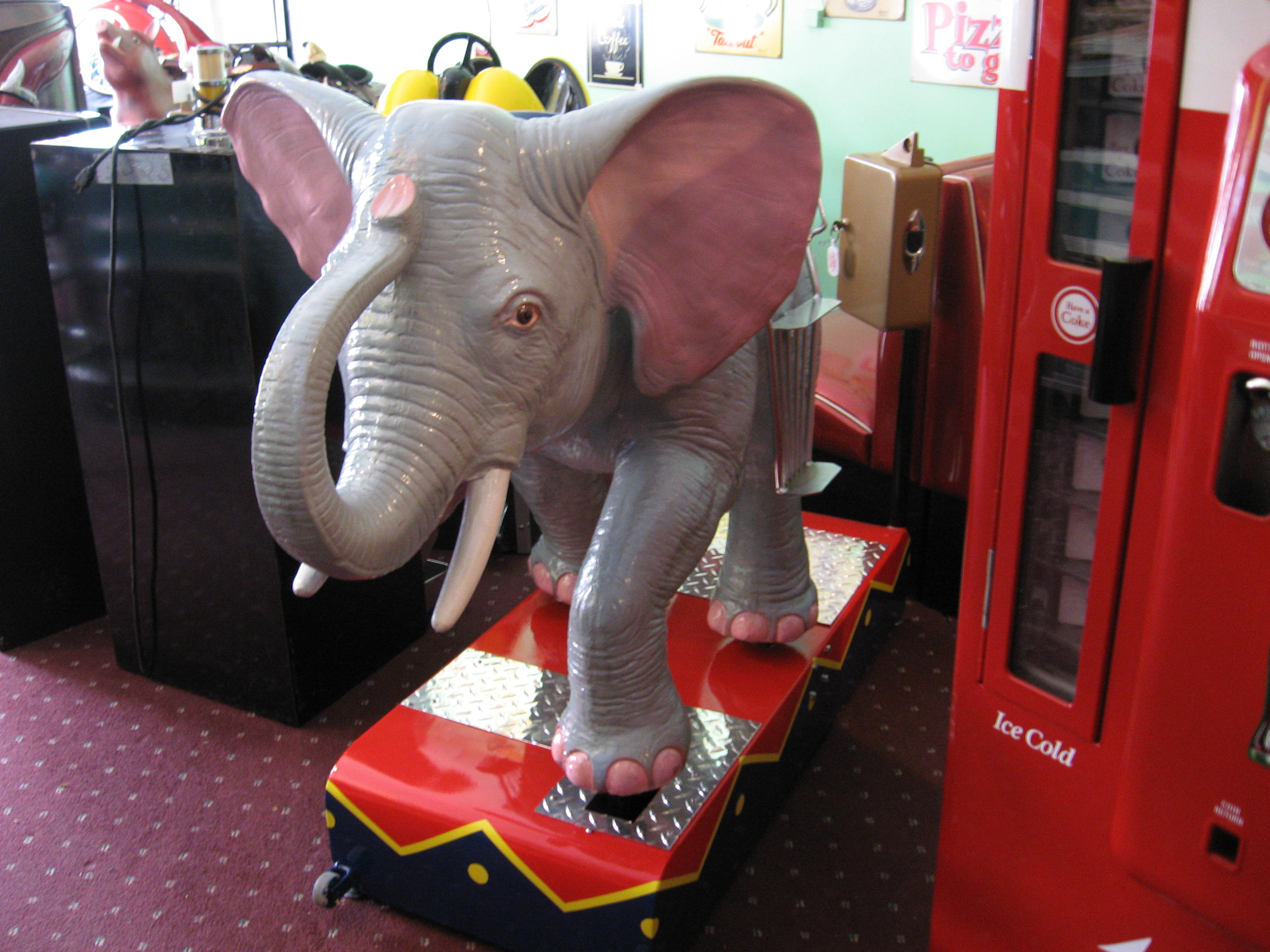 Elephant Kiddie Ride Coin Operated Restored Original
