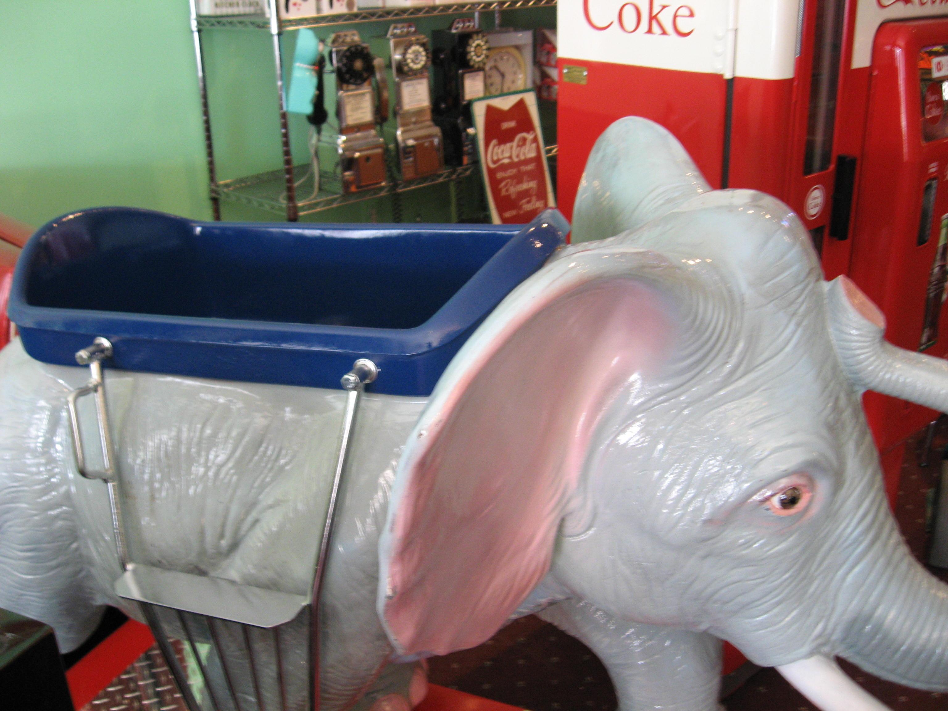 Elephant Kiddie Ride Coin Operated Restored Original