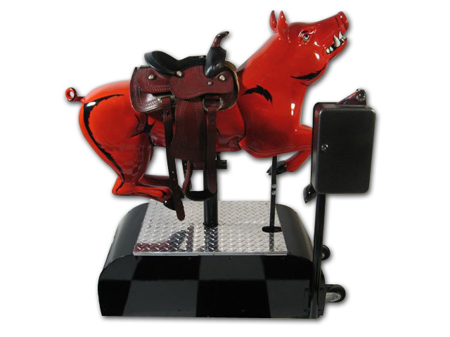 Razorback Pig Ride Coin Operated Original Restored Bbq