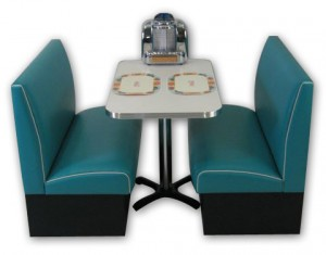Americo Diner Booth in Teal