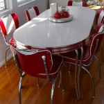 Custom Oval Table Set in Glacier Boomerang laminate and chrome legs