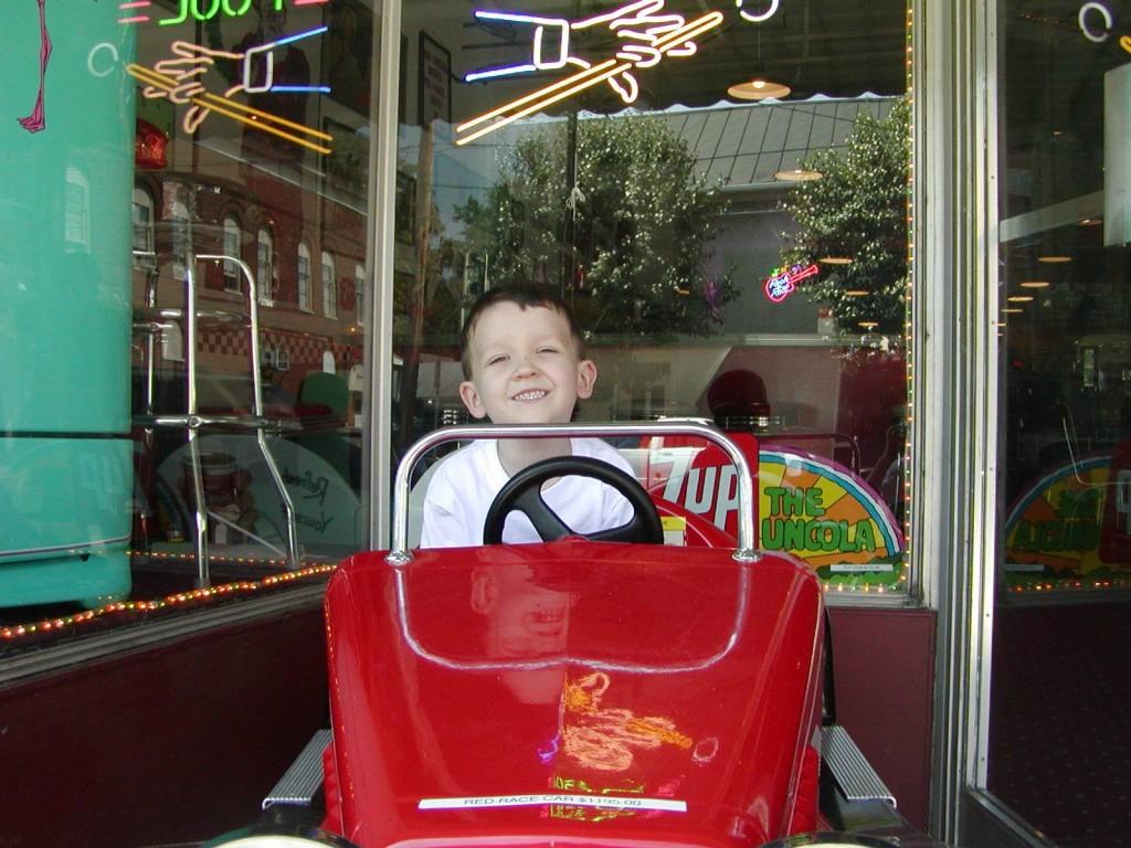 Red Car Kiddie Ride