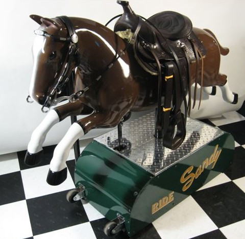 Restored Sandy Horse Kiddie Ride 1950 S Coin Operated