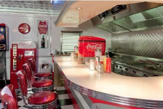 Mat's Retro Garage Diner Counter