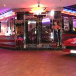 Mat's Retro Garage Diner Entrance