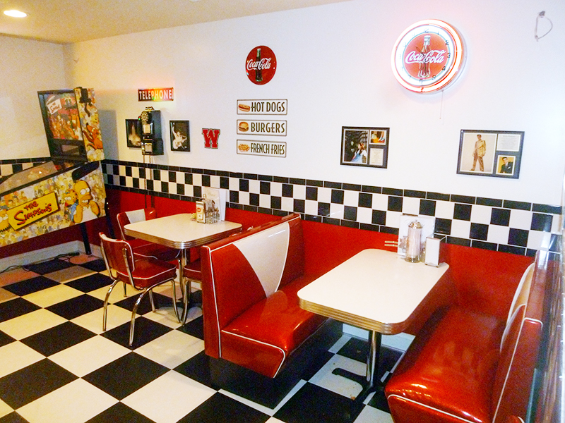 TCB Retro Diner Booth And Matching 921 V Chairs