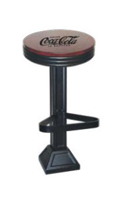 1800-X50-CWD-606 Coca Cola Retro Barstool - Floor Mounted