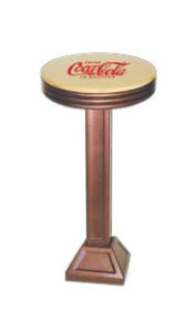 1800-X50--CWD Coca Cola Retro Barstool - Floor Mounted
