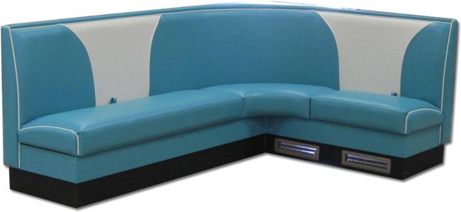 Elite Custom L Shape Booth with Hidden Storage