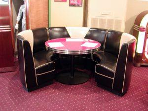 Kemp Full Circle Booth in Black & Cream