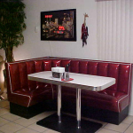 L Shaped Diner Booth