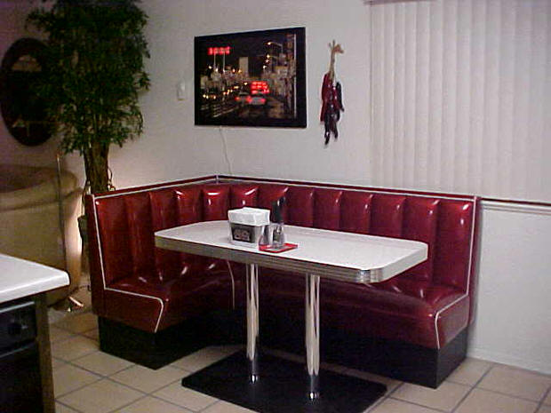L Shaped Diner Booths Restaurant Diner Kitchen 1950s