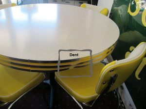 Bars and Booths Yellow Dinette Set