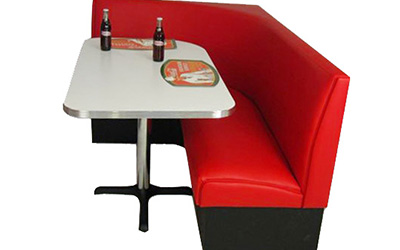 American L Shaped EconoRetro Diner Booth